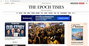 3 clients appear online in The Epoch Times (US)