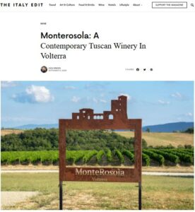 The Italy Edit feature MonteRosola Winery